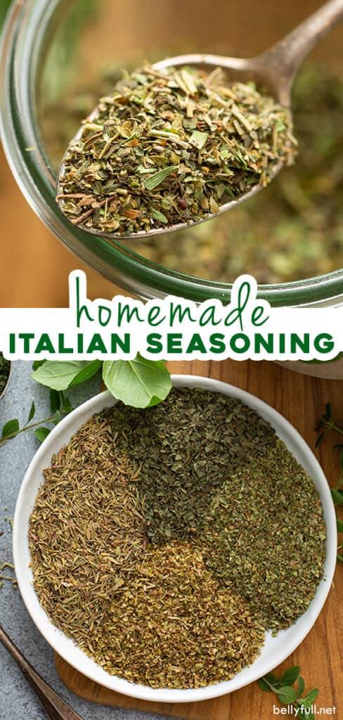 2 picture pin for homemade Italian seasoning