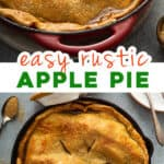 2 picture pin for easy homemade apple pie recipe