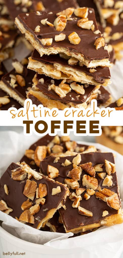 2 picture pin for saltine cracker toffee recipe