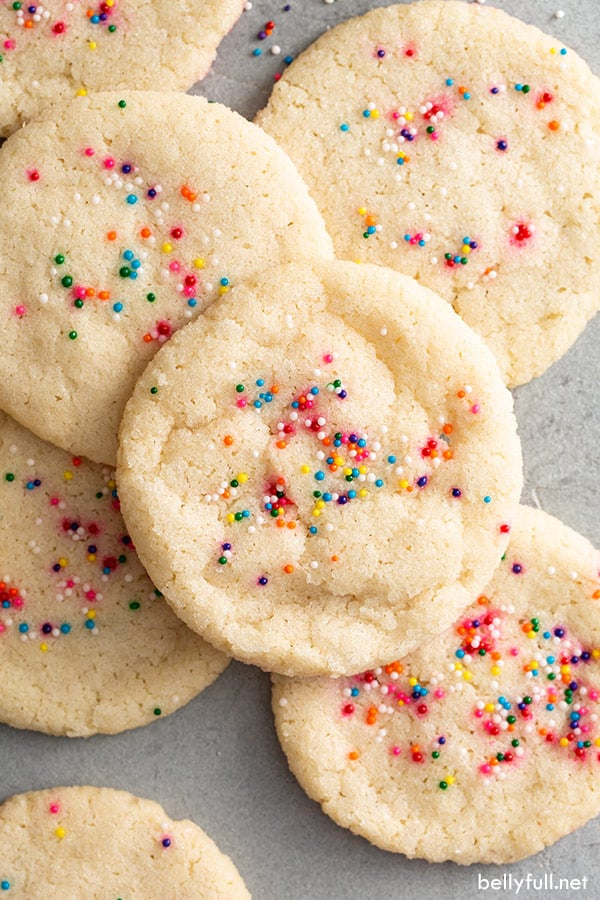 Easy Sugar Cookie Recipe Only 3 Ingredients Belly Full