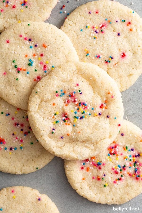 Easy Sugar Cookie Recipe {only 3 ingredients!} - Belly Full