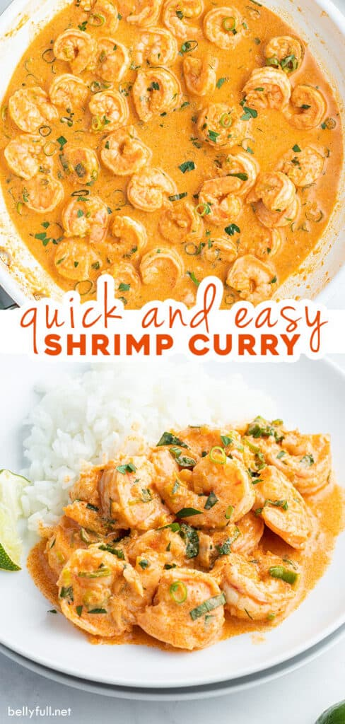 2 picture pin for Thai shrimp curry recipe