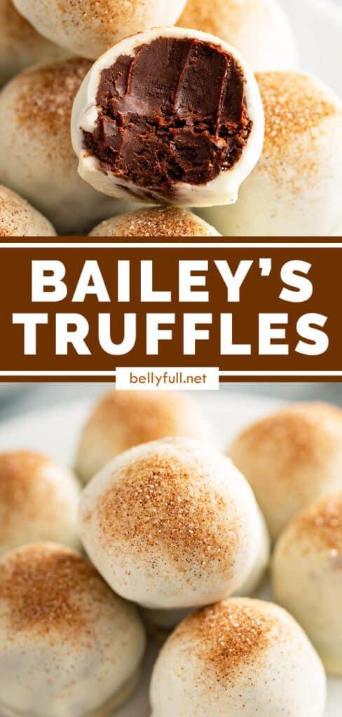 pin for Bailey's Chocolate Truffles recipe