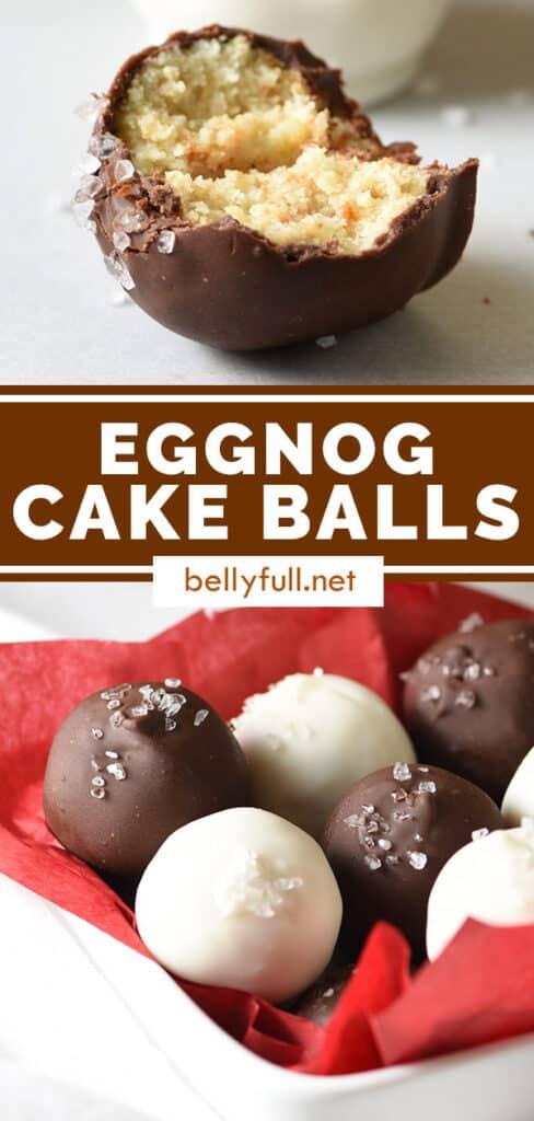 pin for eggnog cake balls