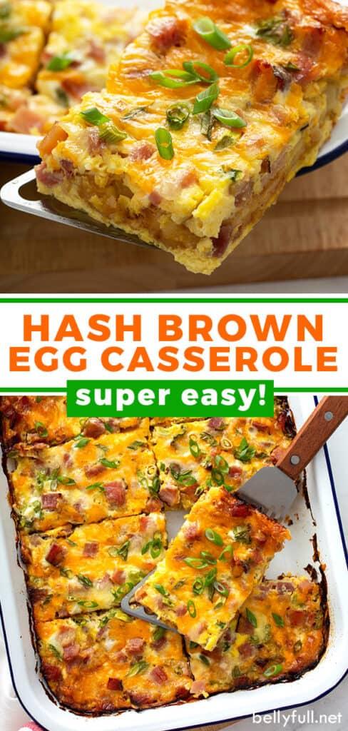 pin for hash brown egg casserole recipe