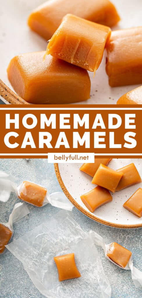 pin for homemade caramels recipe