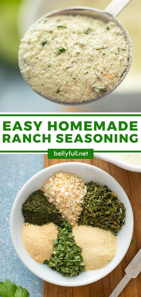 pin for homemade ranch seasoning recipe
