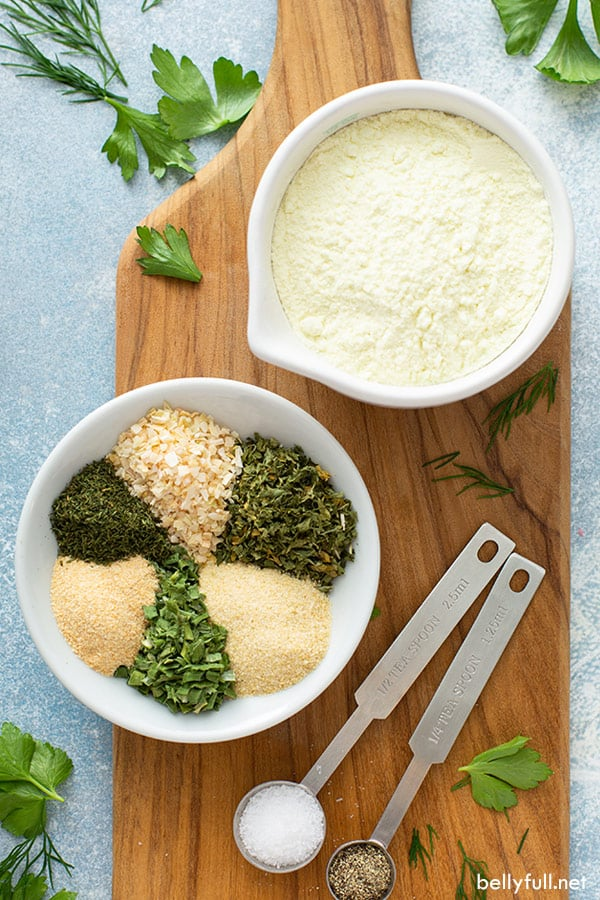 overhead ingredients for ranch seasoning dressing mix