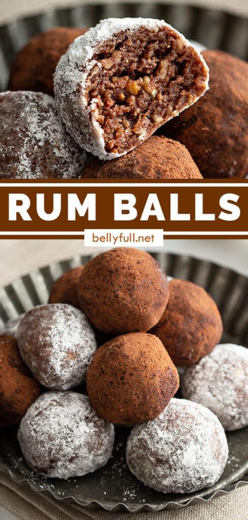 pin for rum balls recipe