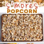 pin for s'mores popcorn mix