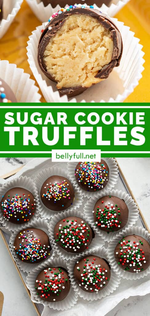 pin for sugar cookie truffles