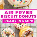 2 picture pin for Air Fryer Biscuit Donuts