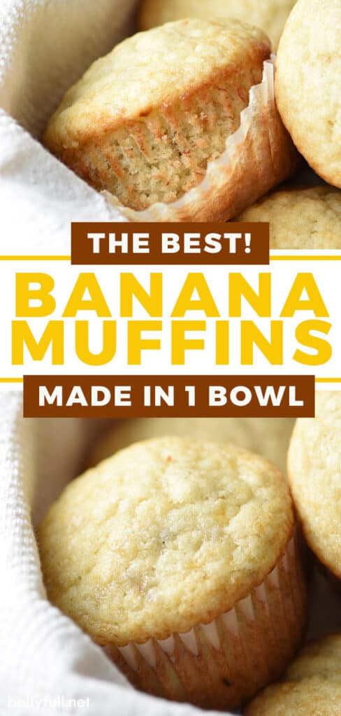pin for banana muffins recipe