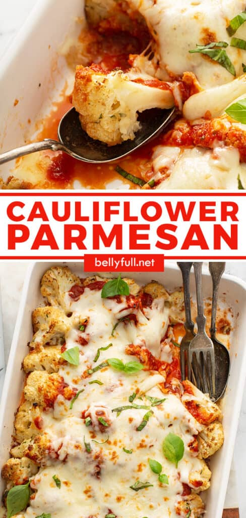 2 picture pin for cauliflower parmesan recipe