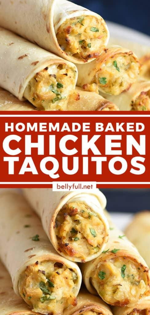 2 picture pin for baked chicken taquitos recipe