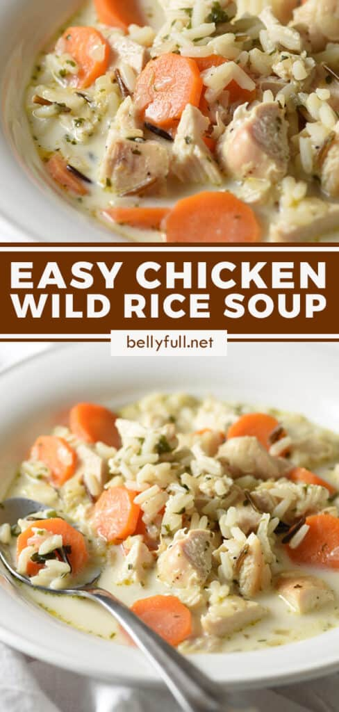 pin for chicken wild rice soup recipe