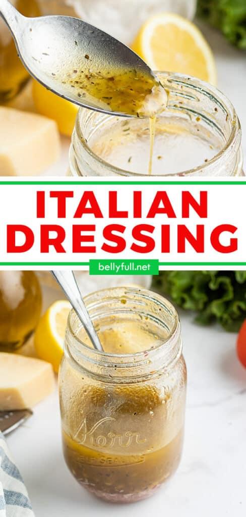 pin for homemade Italian Dressing