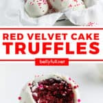 2 picture pin for Red Velvet Cake Truffles