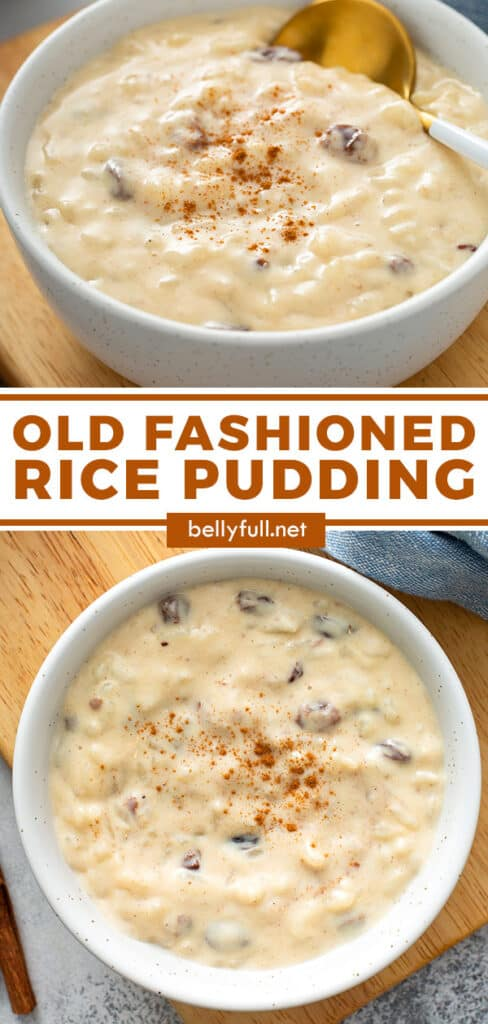 pin for rice pudding recipe