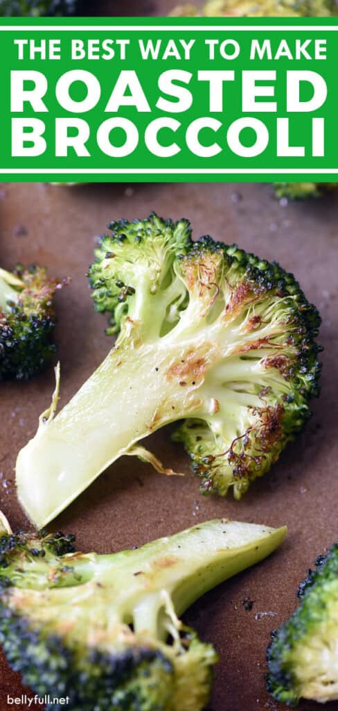 pin for roasted broccoli recipe