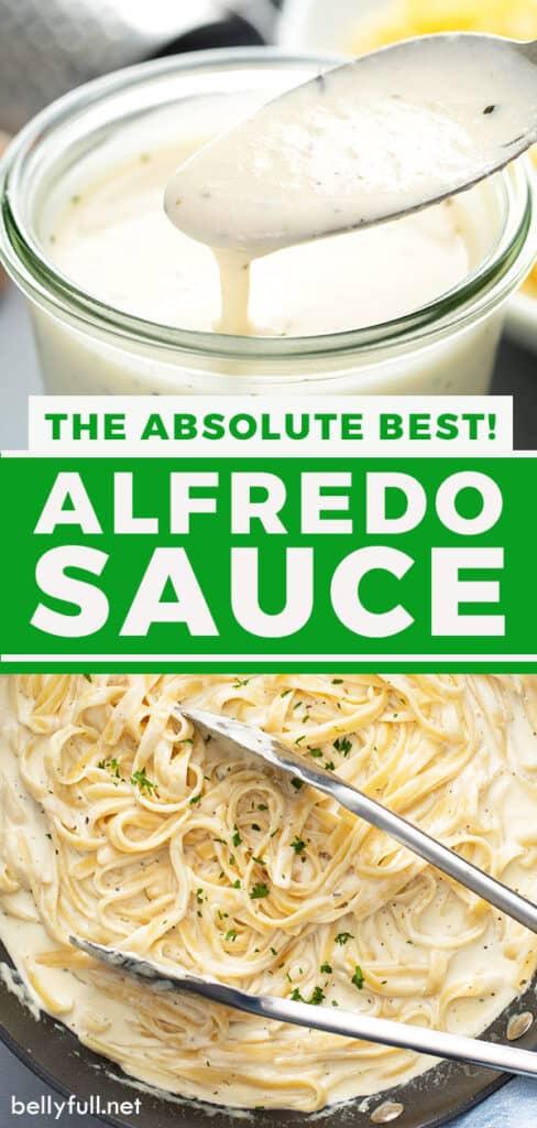 pin for Alfredo sauce recipe