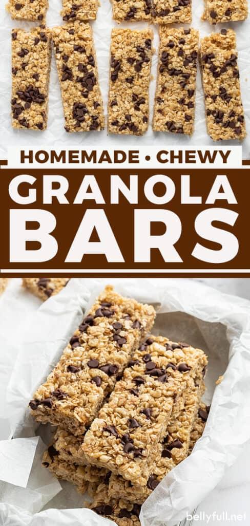 pin for homemade granola bars