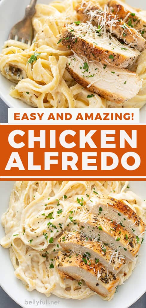 pin for chicken Alfredo recipe