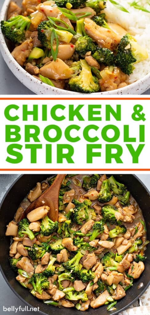 2 picture pin for Chicken and Broccoli Stir Fry