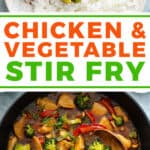 pin for chicken and vegetable stir fry