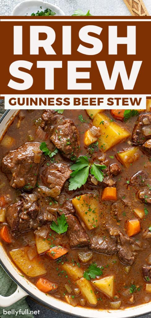 pin for Irish stew recipe with beef