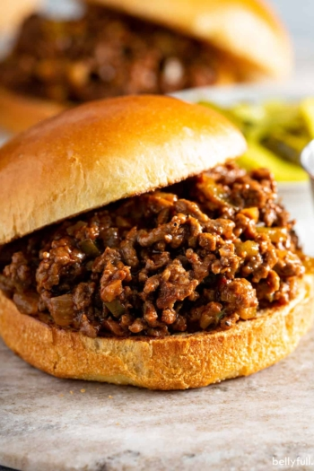 homemade sloppy joes close up