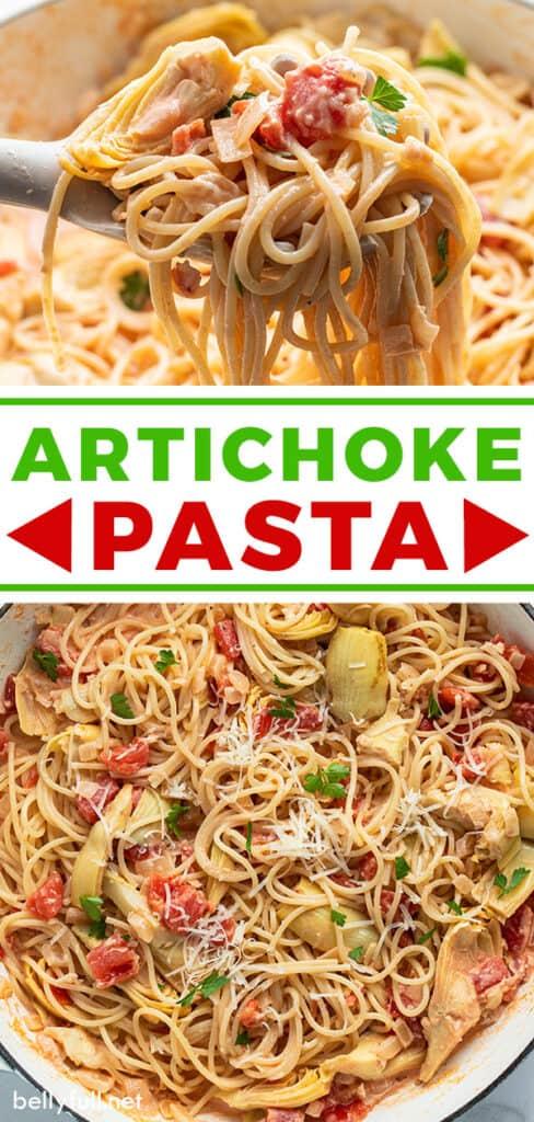pin for artichoke pasta
