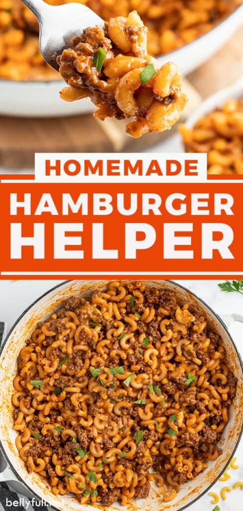 pin for homemade hamburger helper
