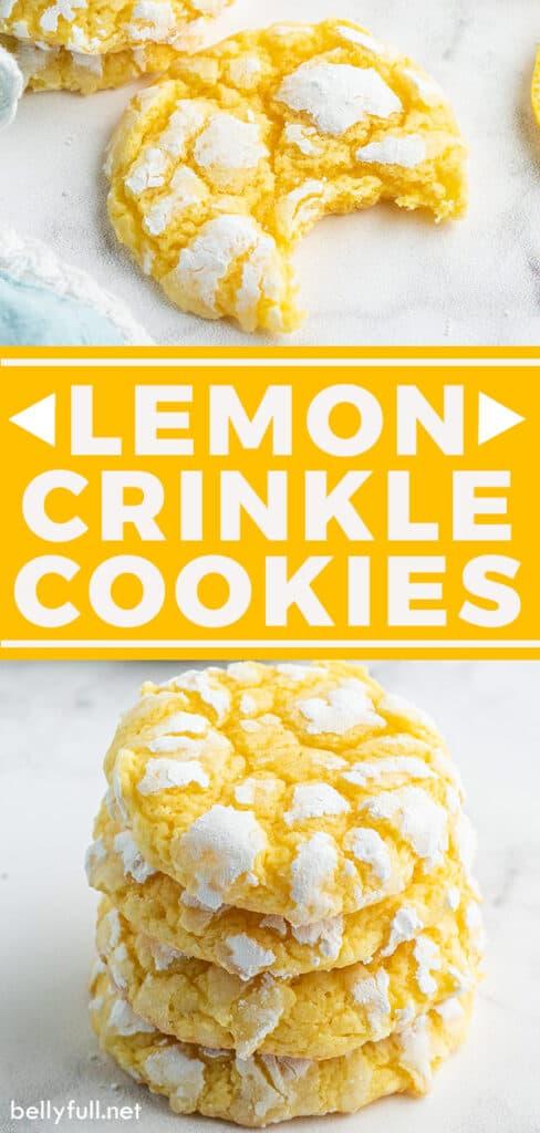 pin for lemon crinkle cookies recipe