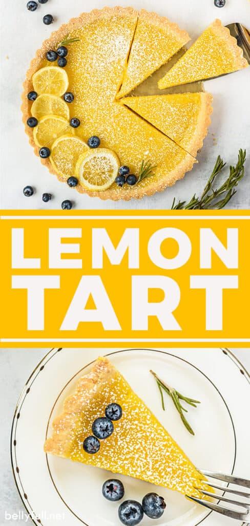 pin for lemon tart recipe
