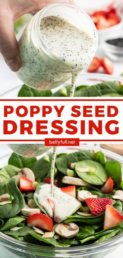 pin for homemade poppy seed dressing