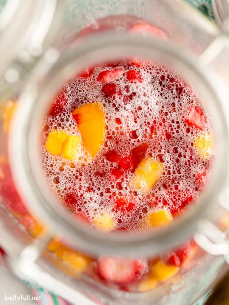 top down fruit and punch in drinking dispenser
