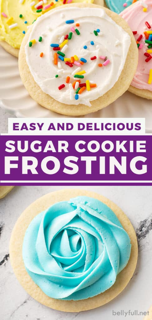 pin for sugar cookie frosting recipe