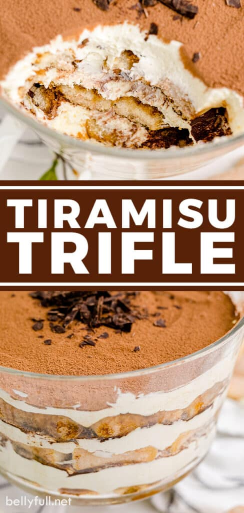 pin for tiramisu trifle recipe