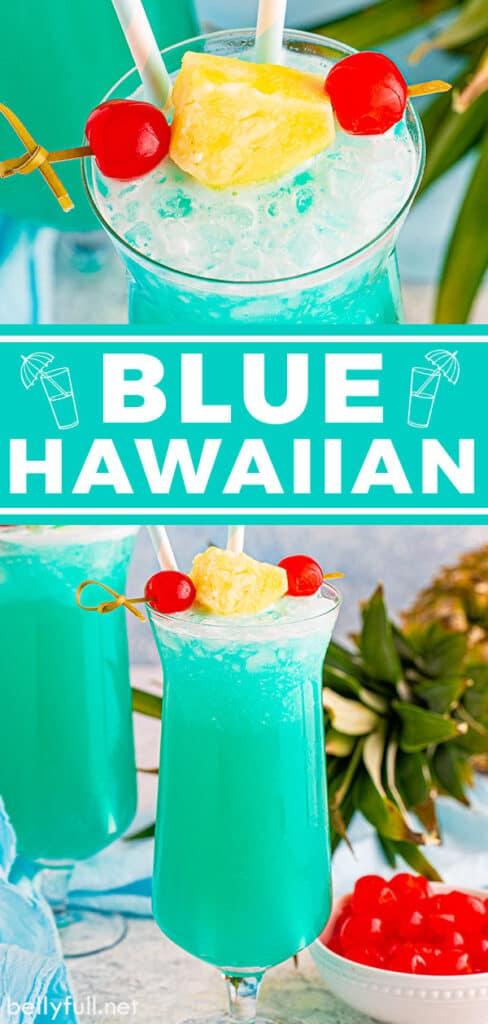 pin for blue hawaiian drink recipe