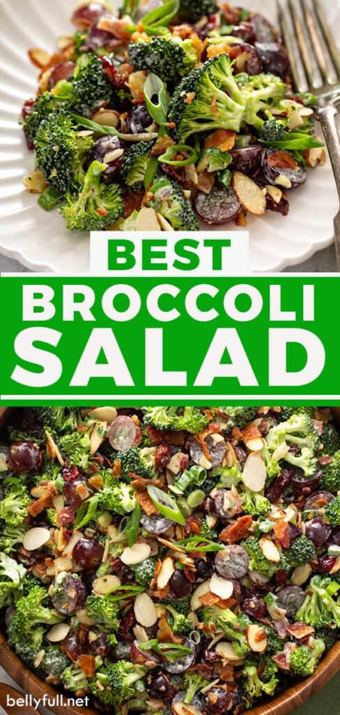 pin for broccoli salad recipe
