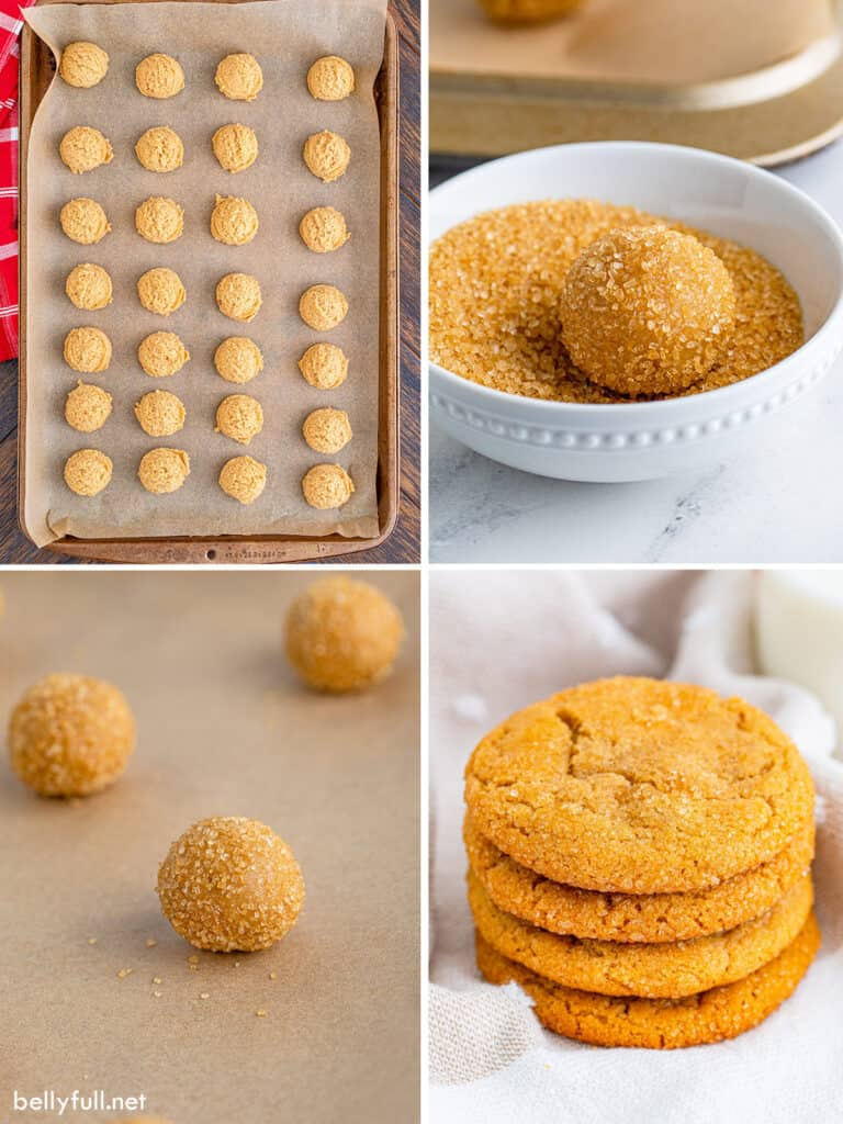 4 picture collage how to make cookies