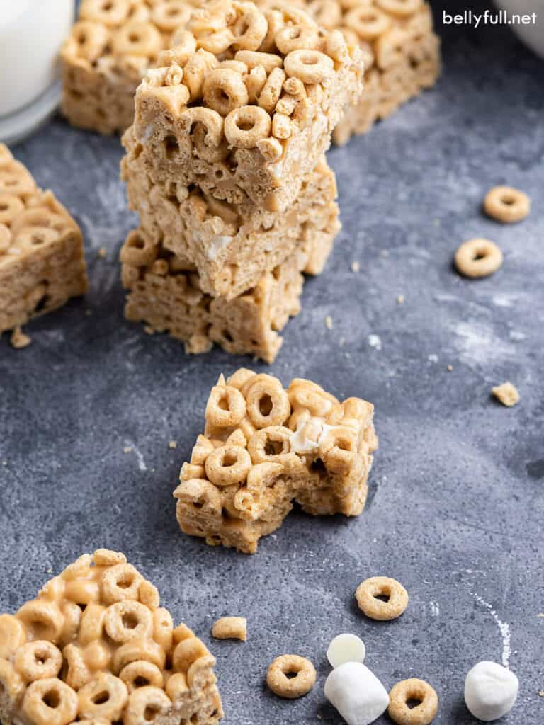 cereal bar with bite taken