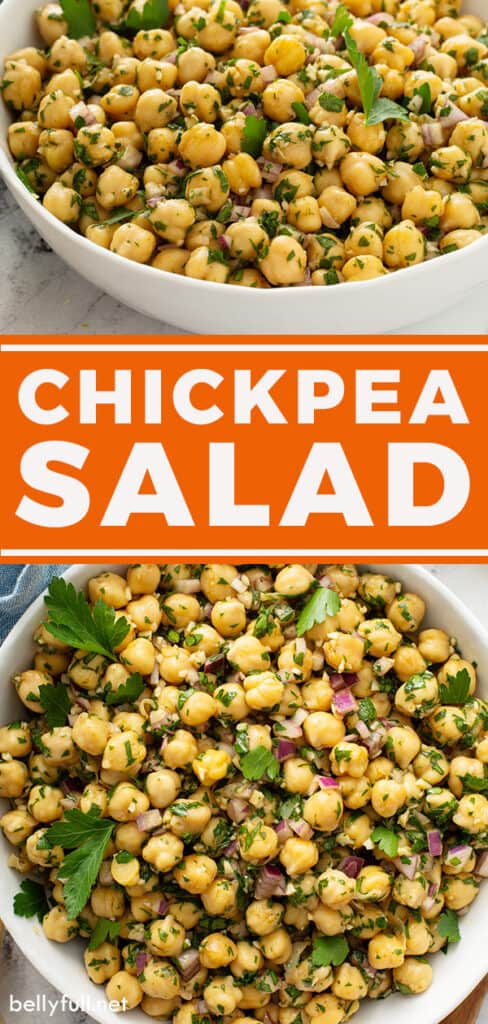 pin for Chickpea Salad recipe