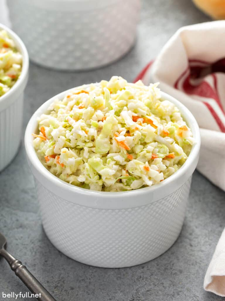 KFC coleslaw portion in little white cup