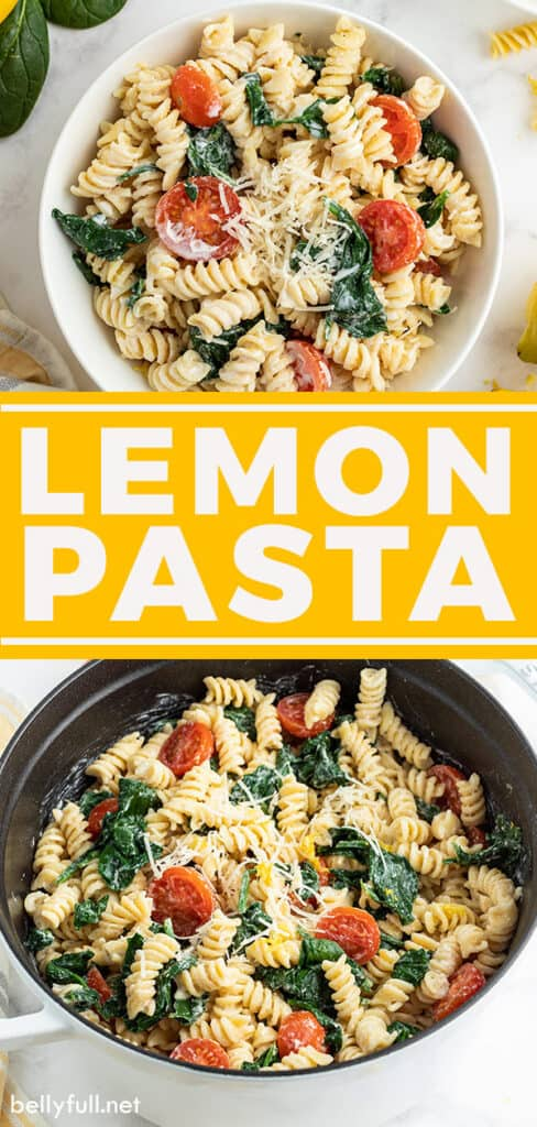 pin for lemon pasta recipe