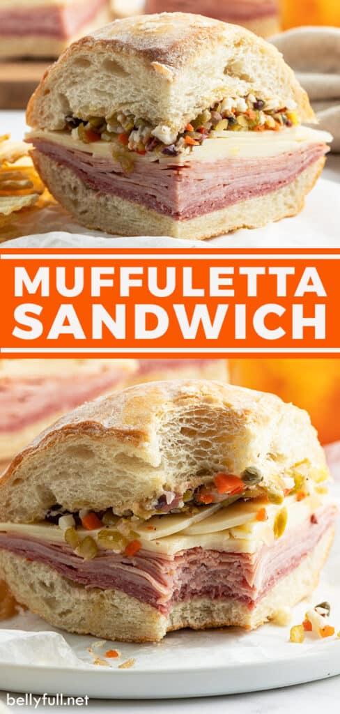 pin for Muffuletta sandwich recipe