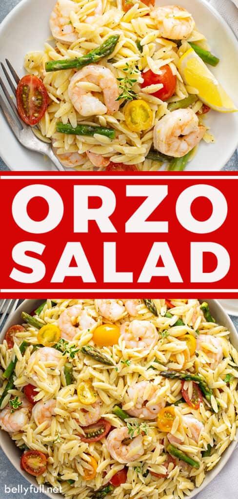 pin for orzo salad recipe