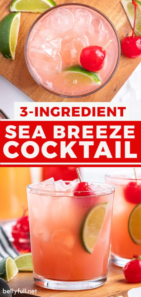 pin for Sea Breeze Cocktail recipe