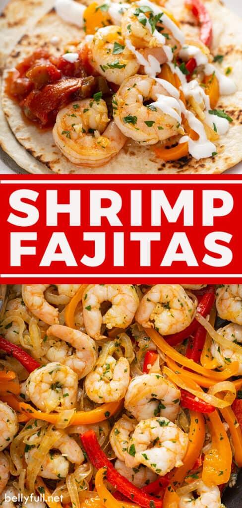 pin for shrimp fajitas recipe